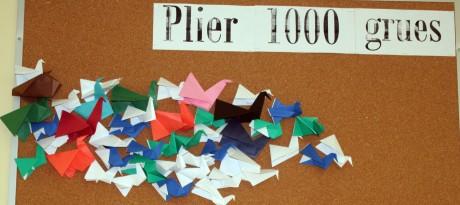 Plier 1000 grues - Avril